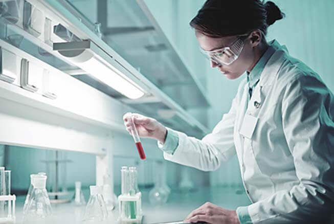 a lab technician doing lab work